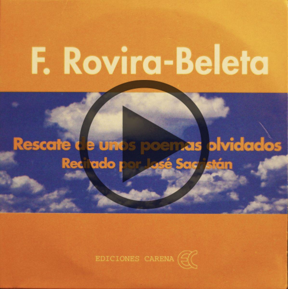 Ediciones Carena recupera los poemas de Rovira-Beleta recitados por José Sacristán