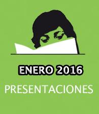 Enero de 2016: presentaciones