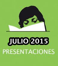 Presentaciones de julio